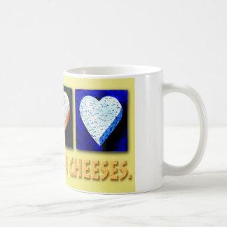 I BELIEVE IN CHEESES. CLASSIC WHITE COFFEE MUG