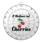 i believe in cherries dartboard with darts