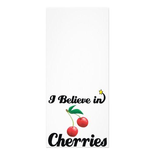 i believe in cherries rack card template