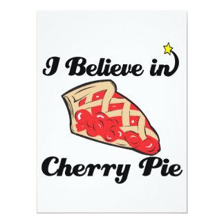 "i believe in cherry pie 6.5"" x 8.75"" invitation card"