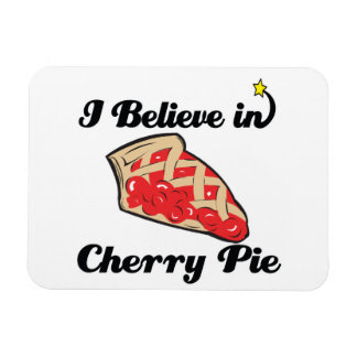 i believe in cherry pie rectangular photo magnet