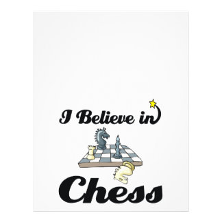 i believe in chess personalized flyer