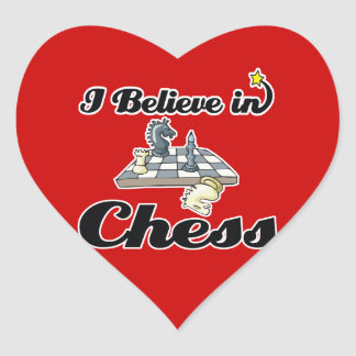 i believe in chess heart stickers