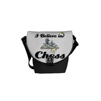 i believe in chess courier bags