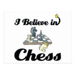 i believe in chess post card