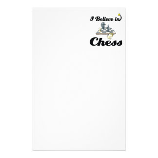 i believe in chess stationery