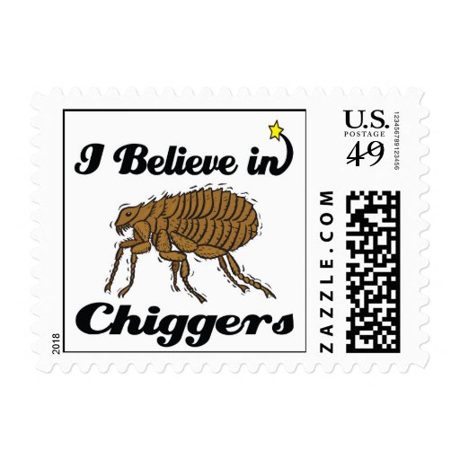 i believe in chiggers postage stamp