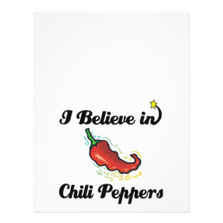 """i believe in chili peppers 8.5"""" x 11"""" flyer"""