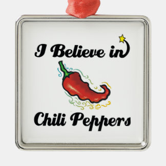 i believe in chili peppers christmas tree ornament