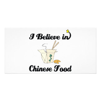 i believe in chinese food photo card