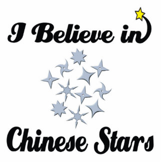 i believe in chinese stars standing photo sculpture