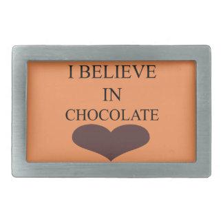 I BELIEVE IN CHOCOLATE BELT BUCKLES