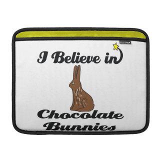 i believe in chocolate bunnies sleeve for MacBook air