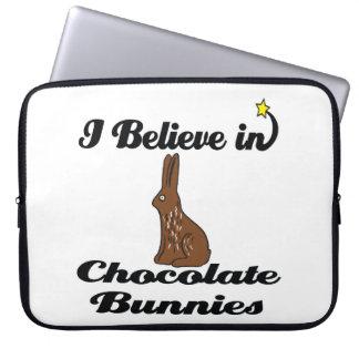 i believe in chocolate bunnies computer sleeves