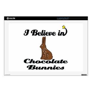 i believe in chocolate bunnies laptop skin