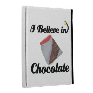 i believe in chocolate iPad folio cases