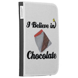 i believe in chocolate kindle keyboard case