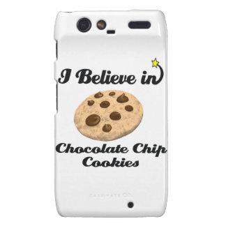 i believe in chocolate chip cookies motorola droid RAZR cover