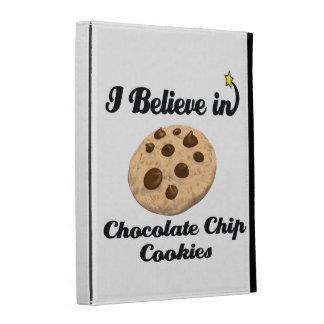 i believe in chocolate chip cookies iPad folio cases