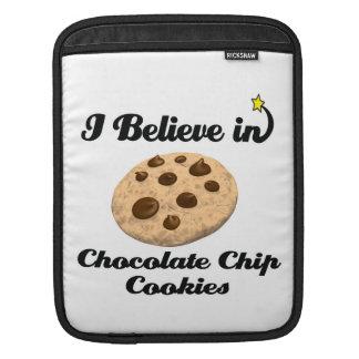 i believe in chocolate chip cookies iPad sleeves