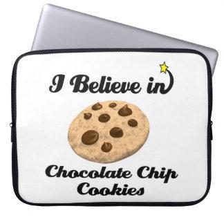 i believe in chocolate chip cookies laptop computer sleeves