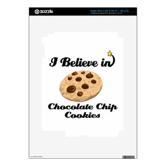 i believe in chocolate chip cookies decals for iPad 3