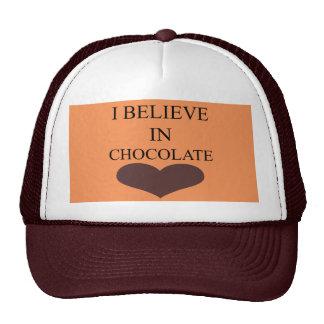 I BELIEVE IN CHOCOLATE TRUCKER HAT