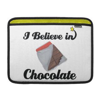 i believe in chocolate MacBook air sleeves