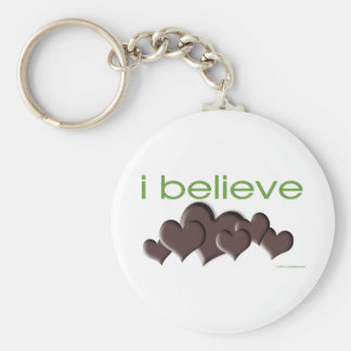 I believe in Chocolate Keychain