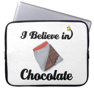 i believe in chocolate computer sleeves
