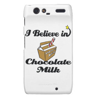 i believe in chocolate milk motorola droid RAZR case