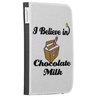 i believe in chocolate milk kindle folio case