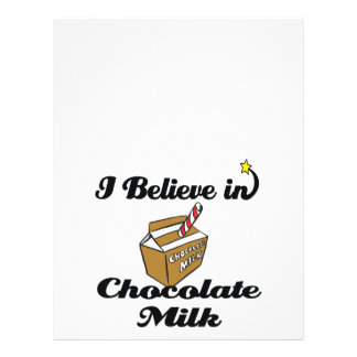 i believe in chocolate milk flyer