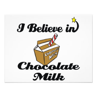 i believe in chocolate milk personalized invitation