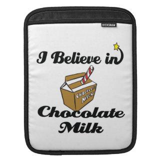i believe in chocolate milk iPad sleeves