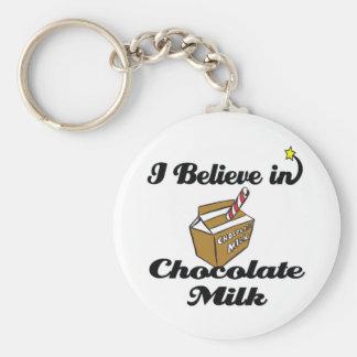 i believe in chocolate milk key chain