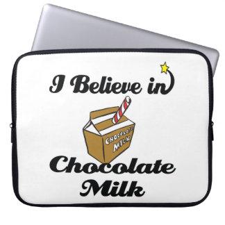 i believe in chocolate milk laptop computer sleeves