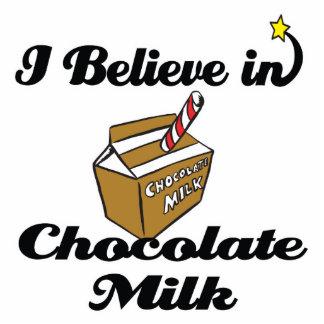 i believe in chocolate milk standing photo sculpture