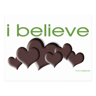 I believe in Chocolate Postcard