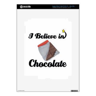 i believe in chocolate iPad 3 skins