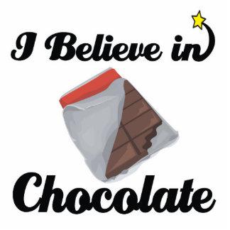 i believe in chocolate standing photo sculpture
