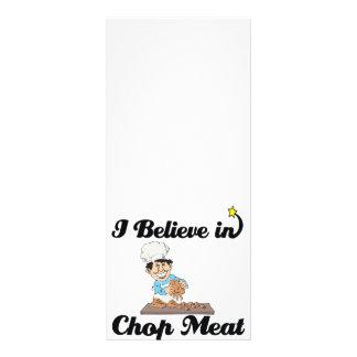 i believe in chop meat custom rack card