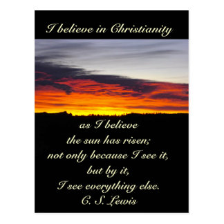 I Believe in Christianity, C S Lewis Postcard