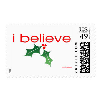 I believe in Christmas Postage
