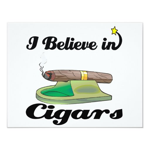 i believe in cigars 4.25x5.5 paper invitation card