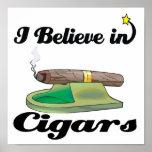 i believe in cigars print