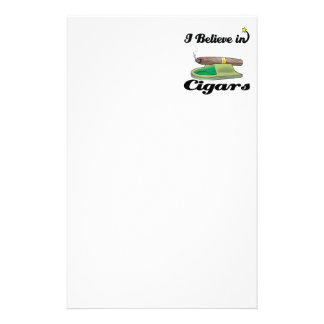 i believe in cigars stationery design