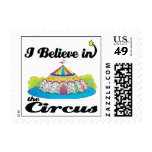 i believe in circus postage