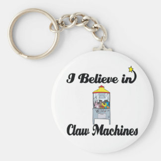 i believe in claw machines basic round button keychain