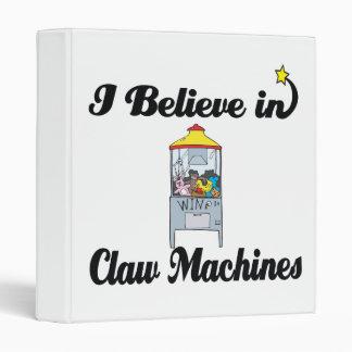 i believe in claw machines vinyl binder